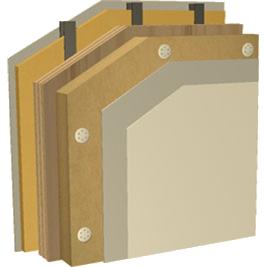 FIBRA DI LEGNO pareti perimetrali interne